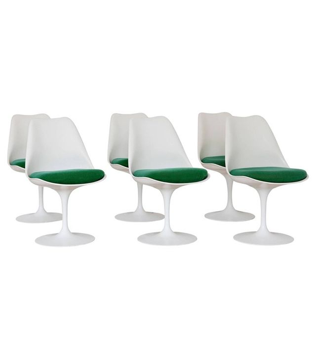Eero Saarinen 1970s Tulip Dining Chairs