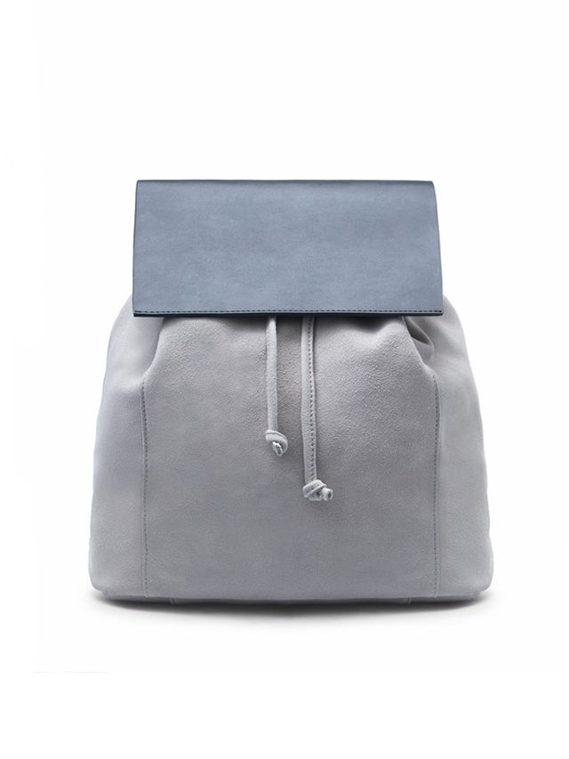 Mango Lapel Suede Backpack