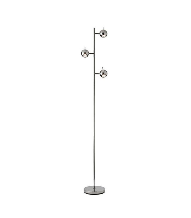 Dot & Bo Three-Tiered Chrome Floor Lamp