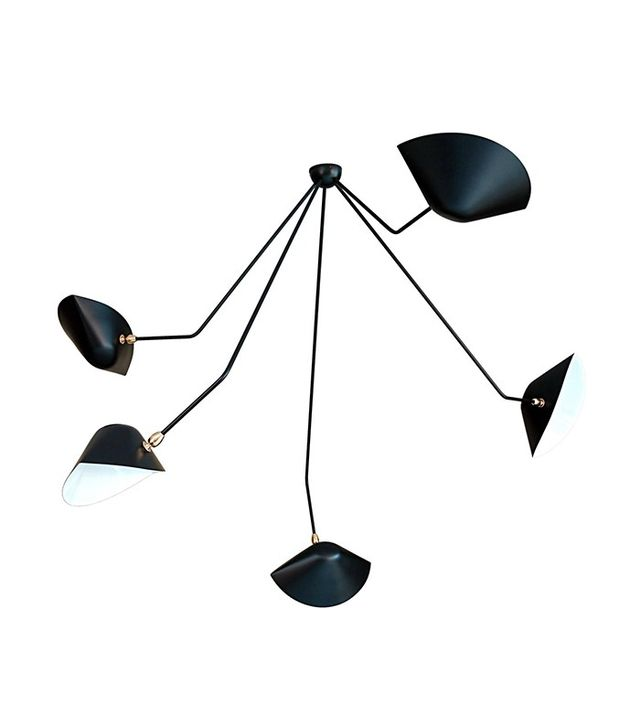 Serge Mouille Falling Arm Ceiling Lamp