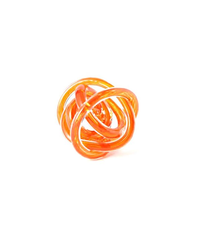West Elm Glass Knot Paperweight