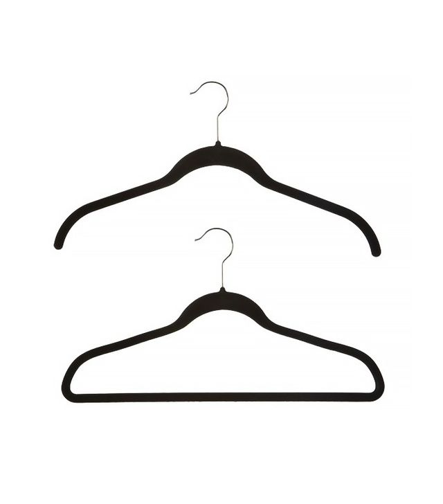 Container Store Black Huggable Hangers