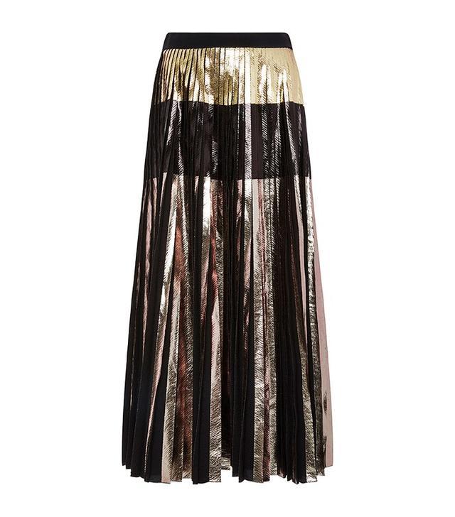 Proenza Schouler Metallic Pleated Skirt