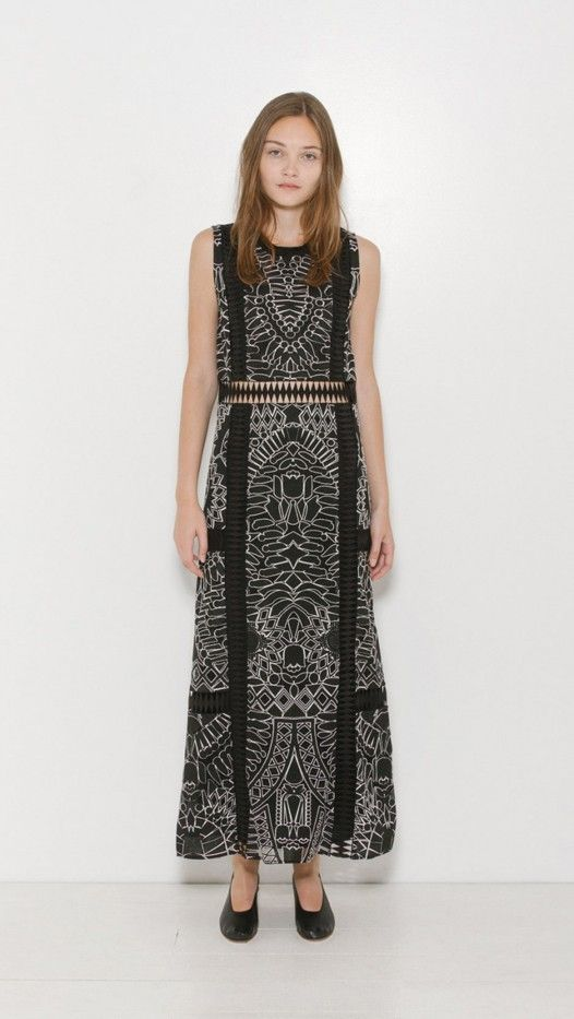 Sea NY Embroidered Sleeveless Maxi Dress