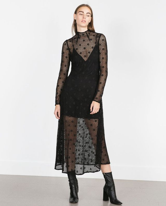 Zara Long Crochet Dress