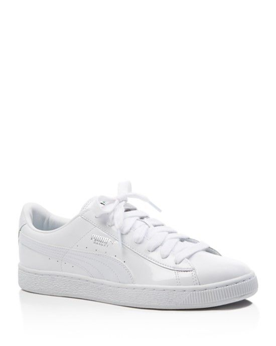 Puma Patent Lace-Up Sneakers
