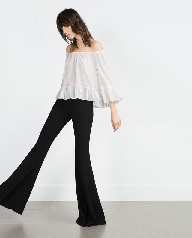 Zara Off-the-Shoulder Shirt