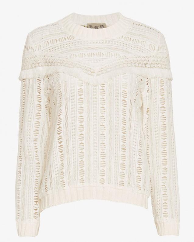 Sea Striped Gauze Sweater