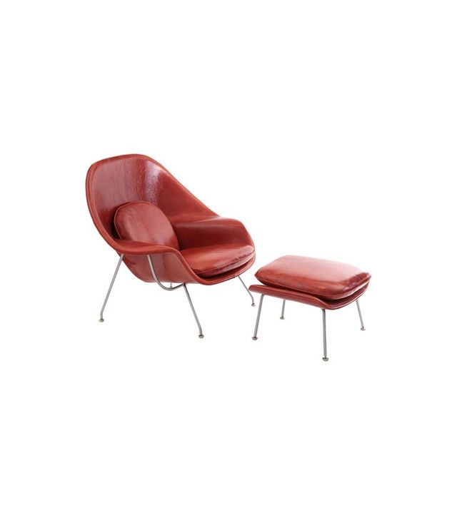 Eero Saarinen Knoll Womb Chair and Ottoman