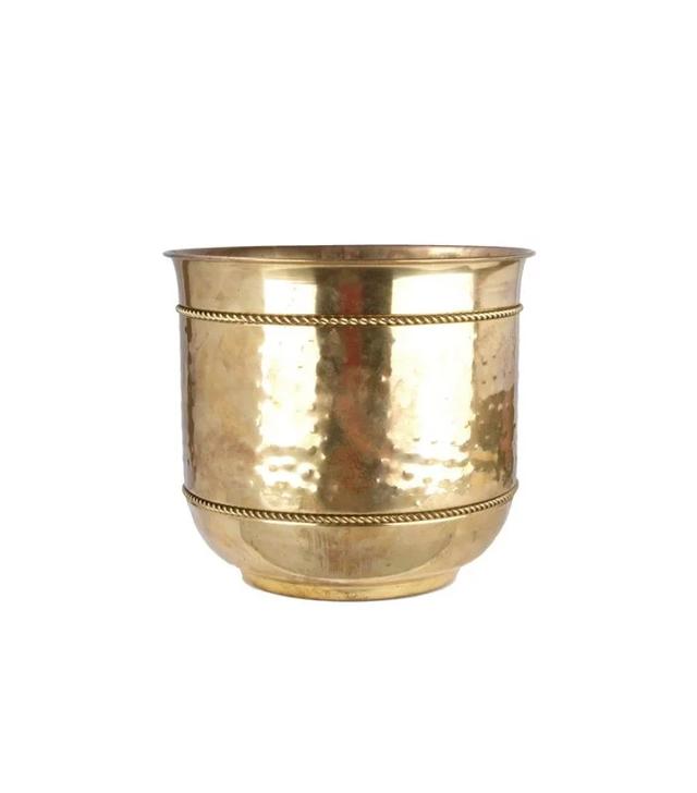 Galleria d'Epoca Hand-Crafted Solid Brass Planter