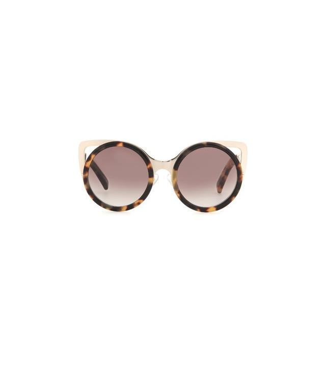 Linda Farrow for Erdem Tortoiseshell and Gold Sunglasses