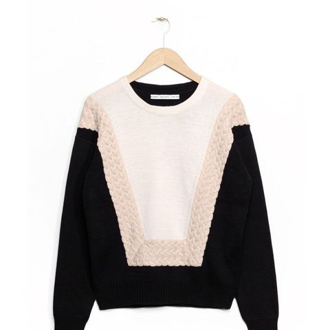 Graphic Cable Knit Sweater