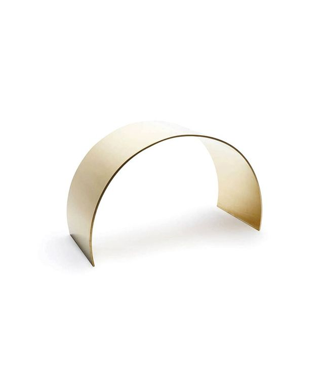 ASH Unlacquered Brass Curved Arc Stool