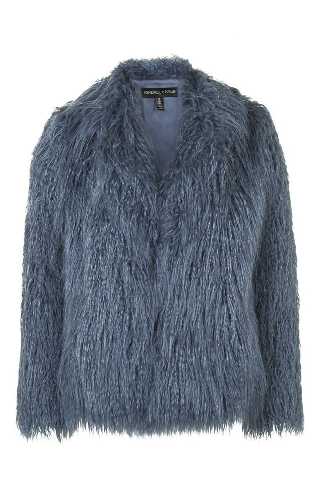 Kendall + Kylie at Topshop Mongolian Faux Fur Coat