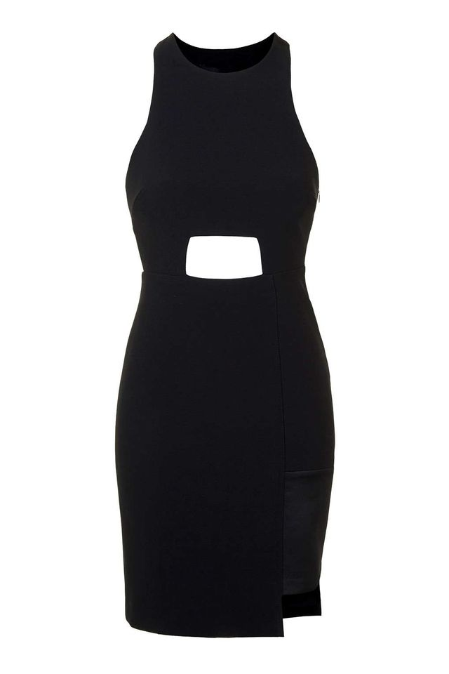 Kendall + Kylie at Topshop Black Cut Out Dress