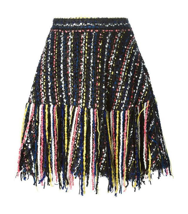 MSGM Knitted Fringe A-Line Skirt