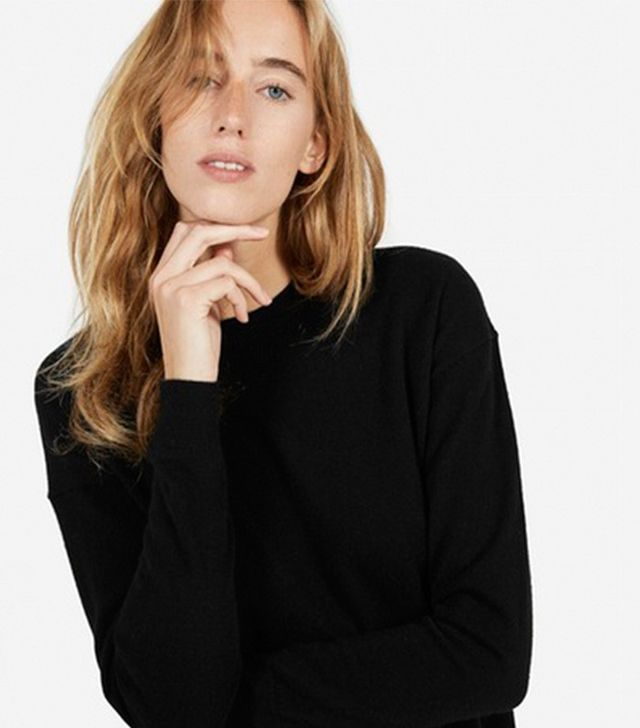 Everlane The Cashmere Cropped Sweater
