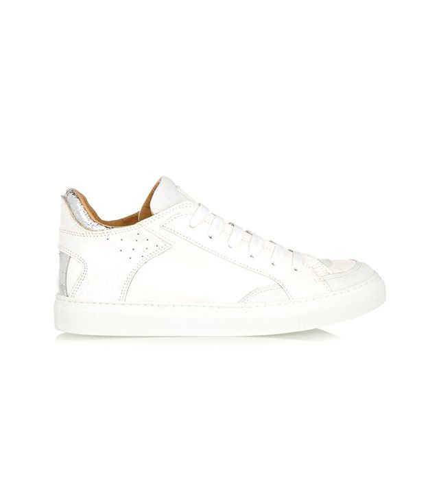 MM6 Maison Margiela Cracked-Leather Sneakers