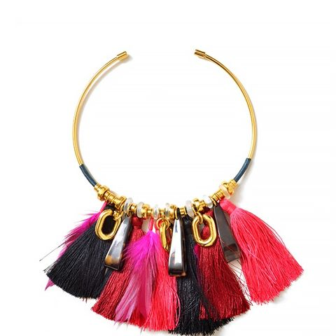 Crimson Tassel Collar