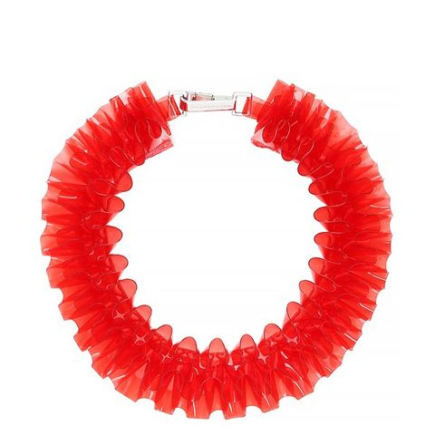 Ruffled PVC Necklace