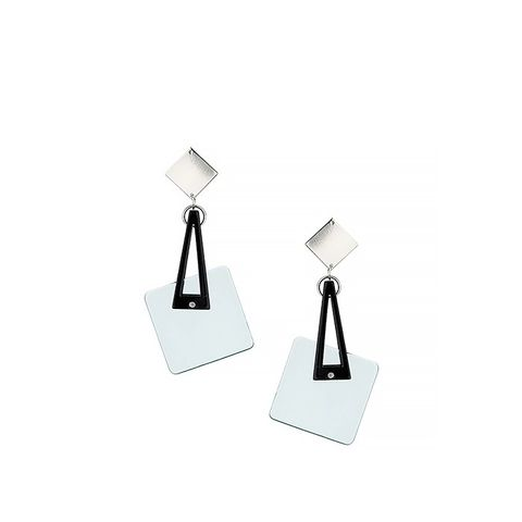 Resin Square Swing Drop Earrings