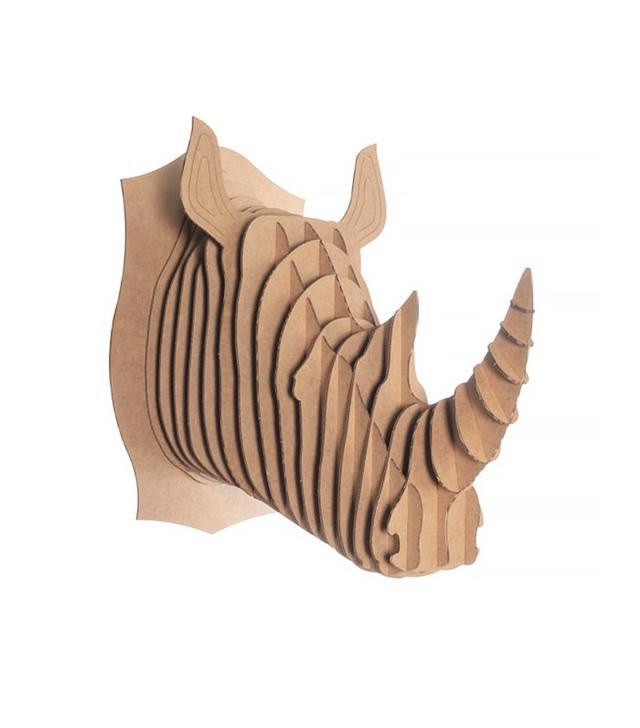 Cardboard Safari Rhino Head
