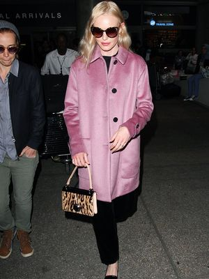 Kate Bosworth's Confirms the Pink Coat Is Still In