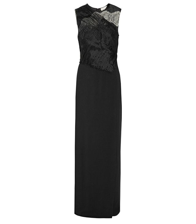 3.1 Phillip Lim Organza and Lace-Trimmed Silk-Crepe Gown