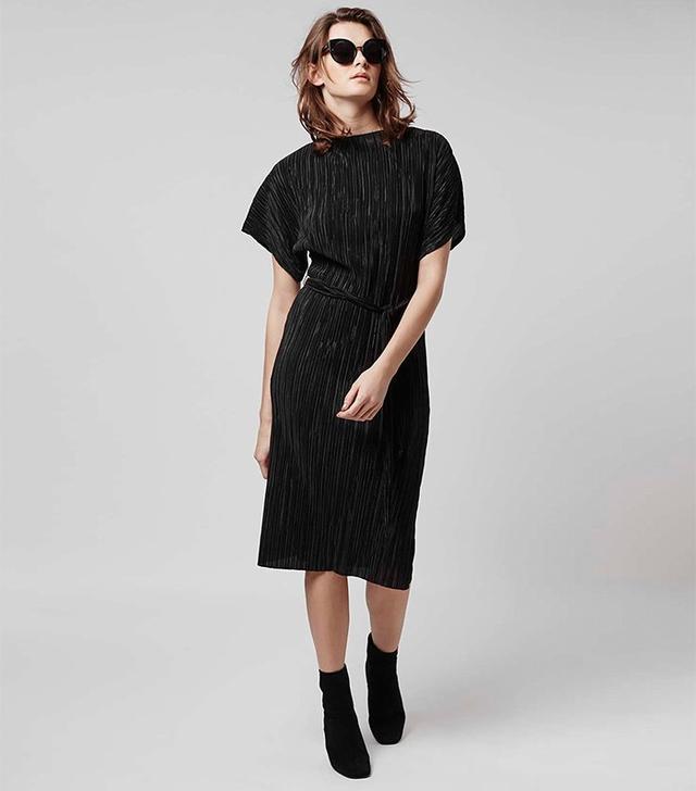 Topshop Pleated Midi Dress