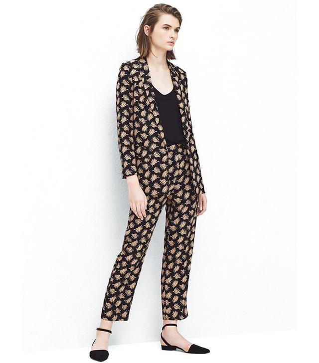 Mango Floral Print Suit