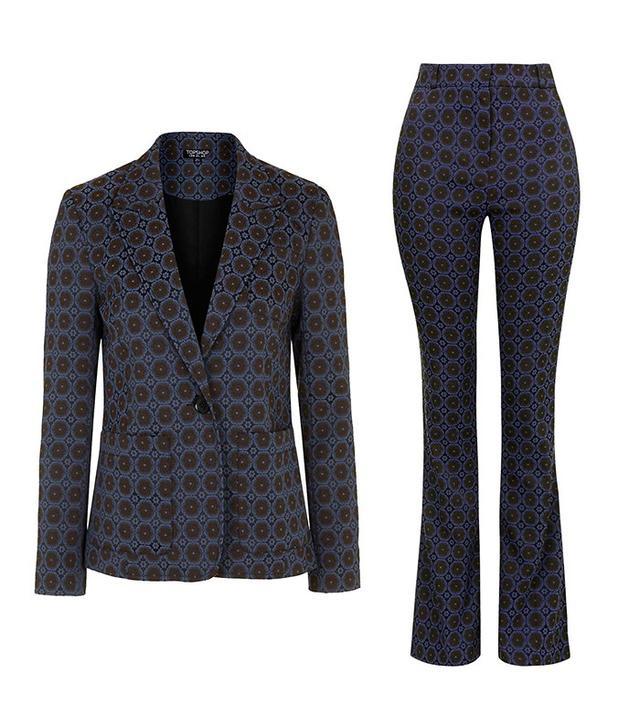 Topshop Premium Jacquard Suit Blazer