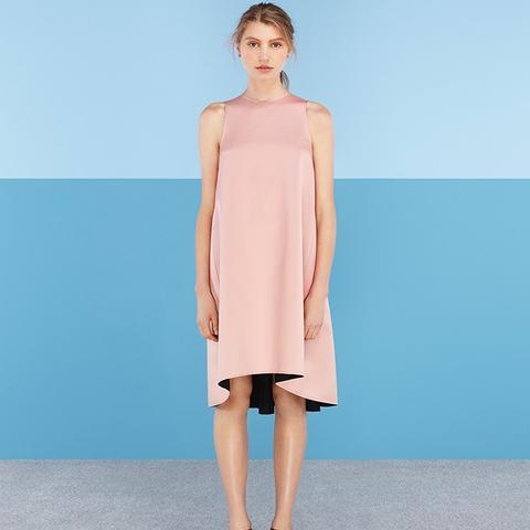 Hemming Satin Trapese Dress