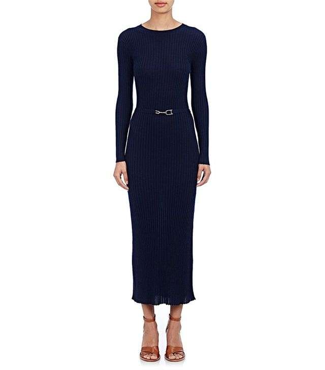 Gabriela Hearst Long-Sleeve Ribbed Dress