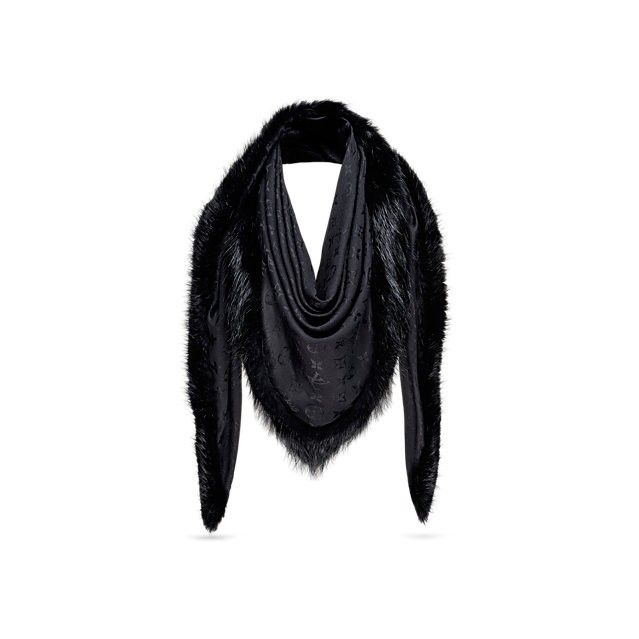 Louis Vuitton Monogram V Fur Shawl