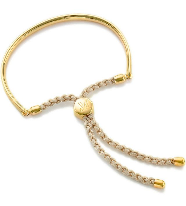 Monica Vinader Fiji Gold-Plated Friendship Bracelet