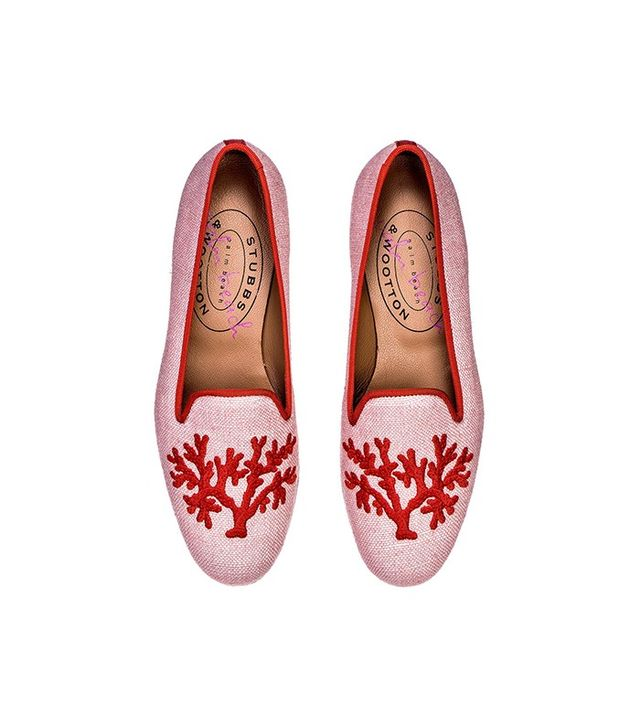 Stubbs & Wootton Coral Blush Slippers