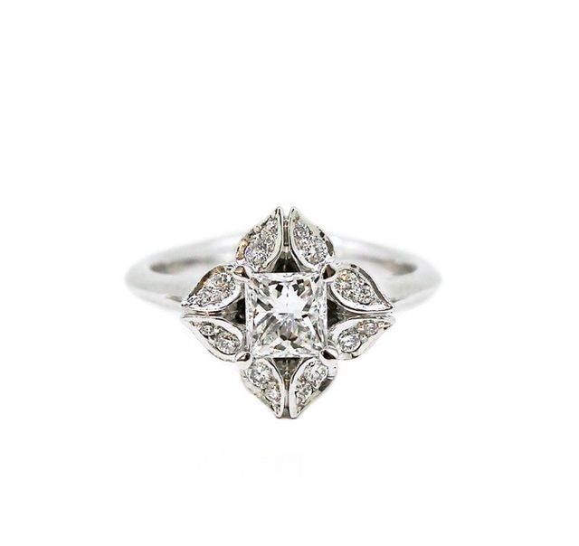 Melissa Harris Lotus Diamond Ring