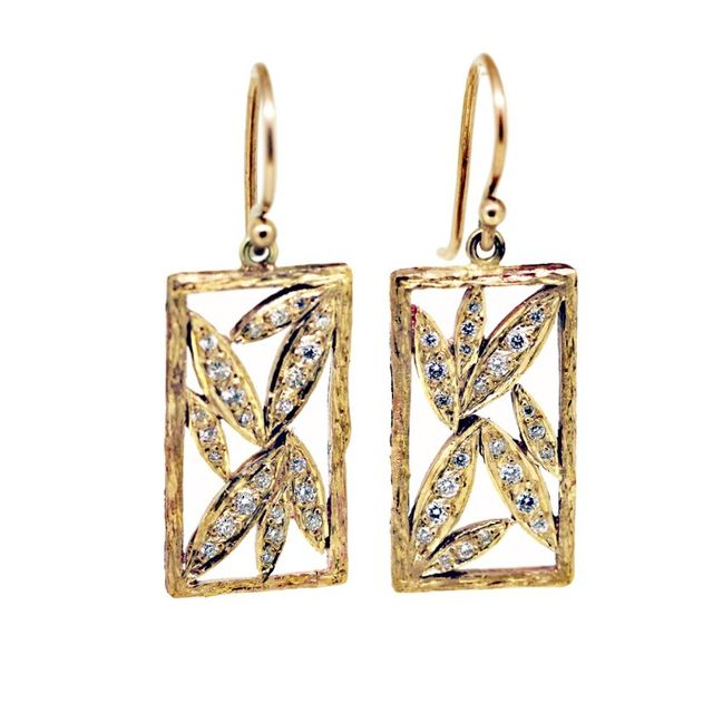 Melissa Harris Diamond Bamboo Earrings