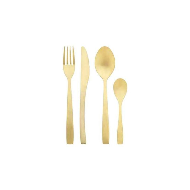 Freedom Charm 16 Piece Cutlery Set in Gold Colour