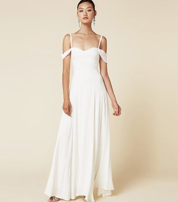 High-street wedding dresses: Reformation Poppy Dress
