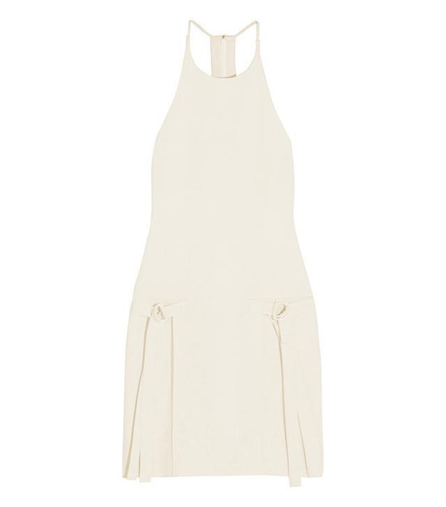 Edun Satin and Crepe Mini Dress