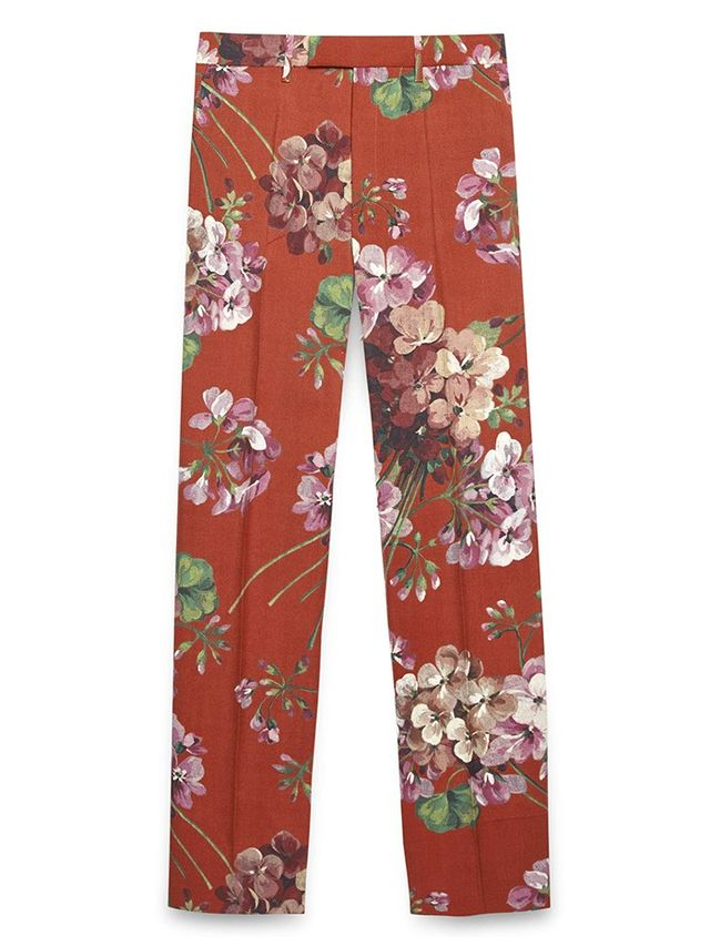 Gucci Blooms-Print Wool Pants