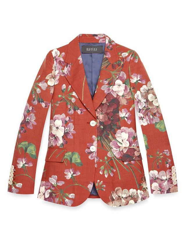 Gucci Blooms-Print Wool Jacket