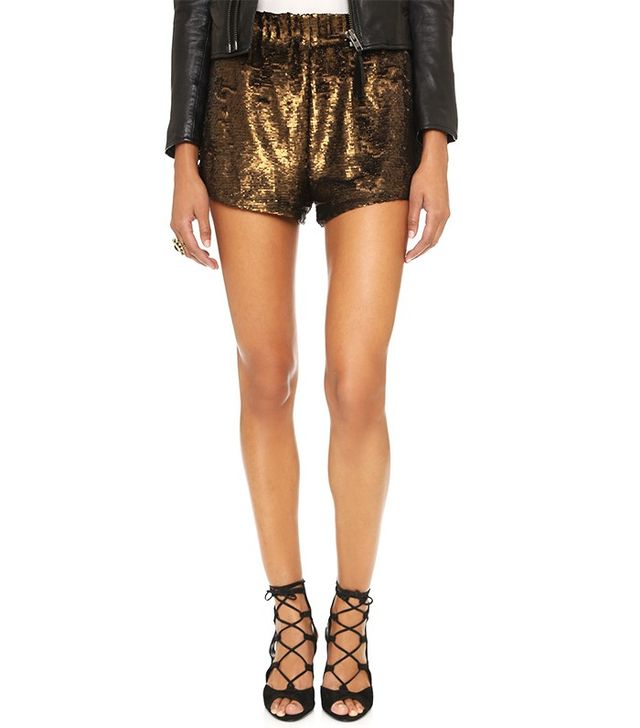 Free People Time to Shine Sequin Shorts