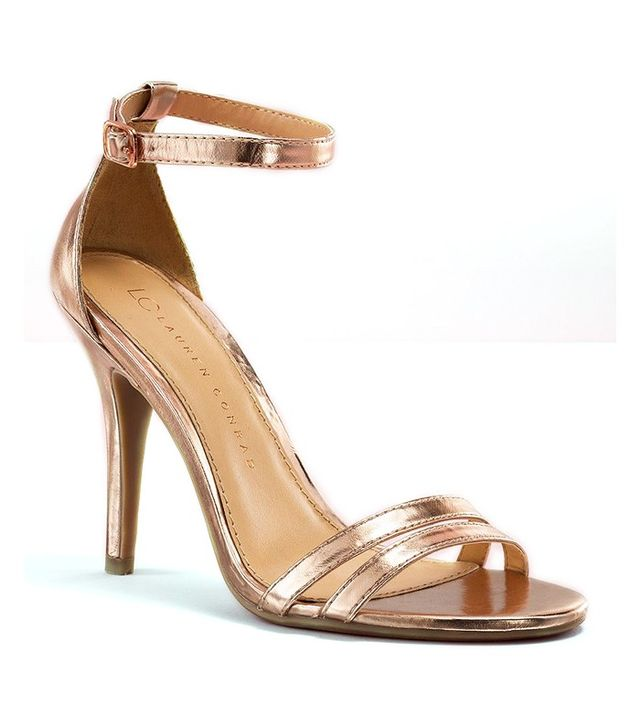 LC Lauren Conrad Runway Collection Ankle Strap High Heels