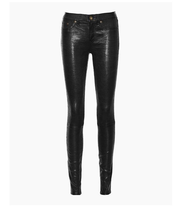 Rag & Bone Leather Skinny Jeans