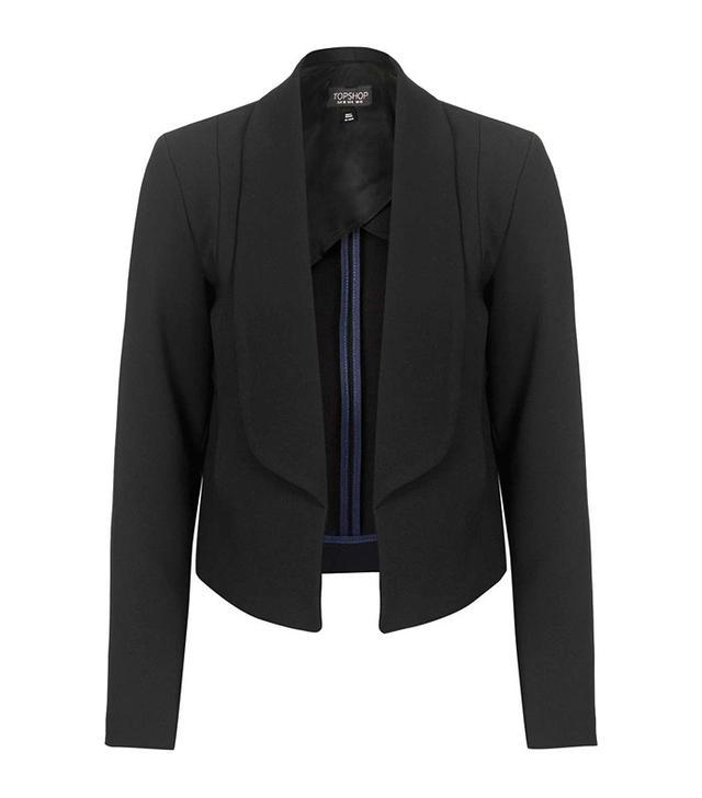 Topshop Shawl Collar Crop Jacket