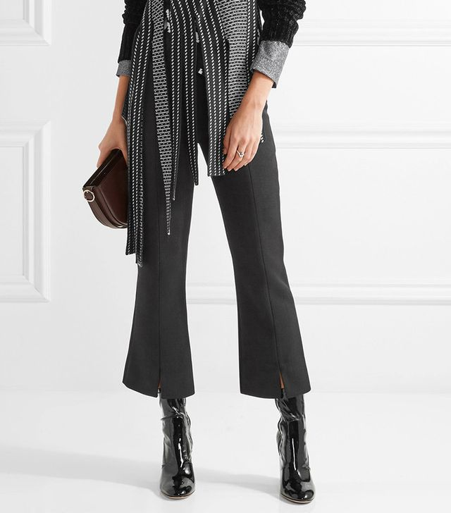 By Malene Birger Gassy Cropped Twill Flared Pants