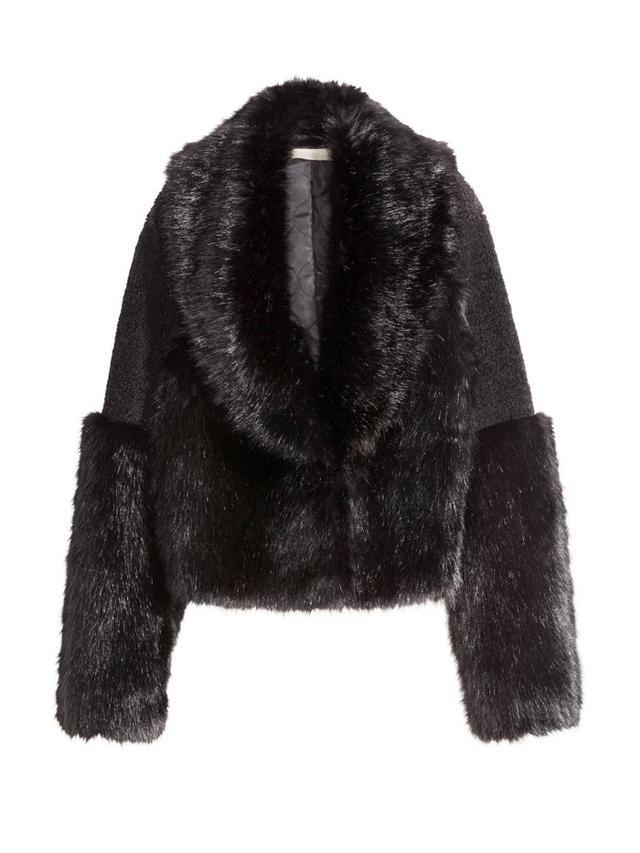 H&M Short Faux Fur Jacket