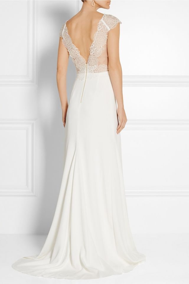 Rime Arodaky Zeppelin Embroidered Organza and Crepe Gown